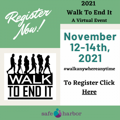 Register Now for 2021 Walk To End It - Nov. 12th to 14th, 2021